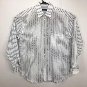 Canali Mens Button Front Dress Shirt Size 17 / 43